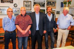 Der alte Vorstand ist auch der neue. Quelle: Medienhaus Bauer